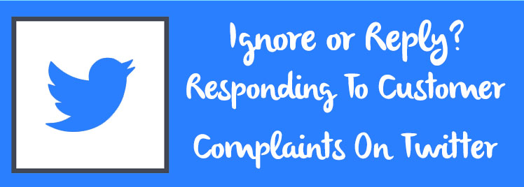 responding to customer complaints on twitter